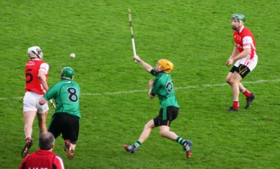 Cuala begin to throw the the ball around the middle third